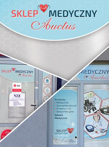 Identyfikacja wizualna i wizytówki sklep medyczny Auctus Głogów