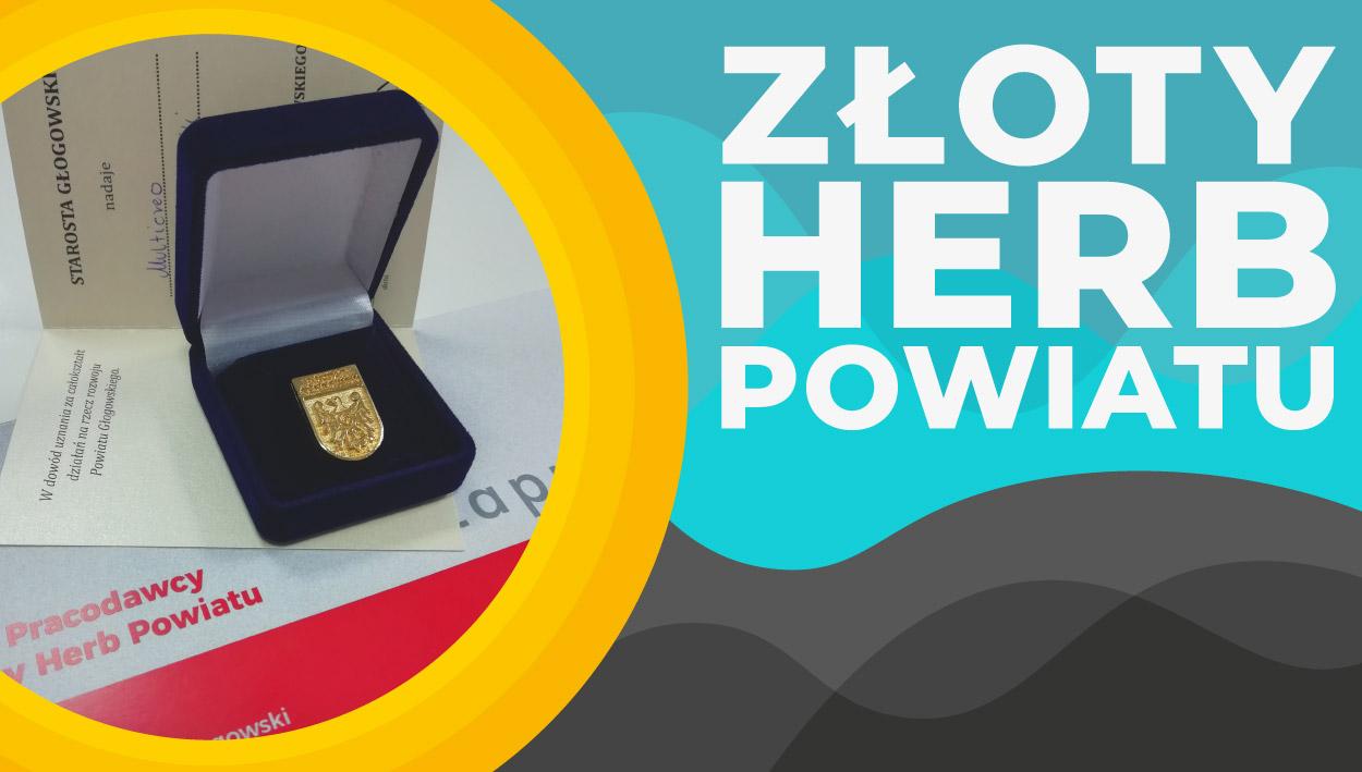 Złoty Herb Powiatu Głogowskiego